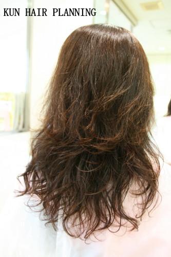 KUN 白髪染め ロングパーマ1